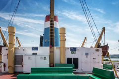 Ferry boat deck Stock Photography
