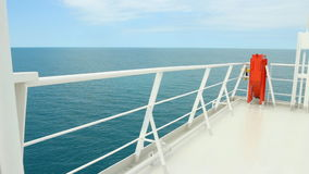 Ferry boat deck at sea stock video footage