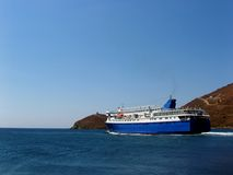 Ferry boat departing stock photos
