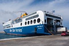 Ferry-boat en Grèce Photos libres de droits