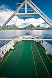 Ferry boat in fiord Royalty Free Stock Photos