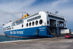 Ferry Boat in Greece Royalty Free Stock Photos
