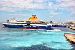 Ferry Boat in Greece Stock Photo