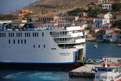 Ferry boat, Halki Royalty Free Stock Photos