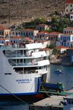 Ferry boat, Halki Stock Images