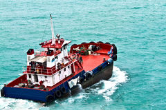 Ferry boat heading off Royalty Free Stock Photo