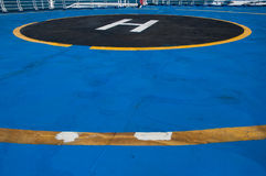 FERRY BOAT HELICOPTER LANDING PAD Stock Image