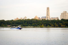 A ferry boat on the Hudson River, NYC Royalty Free Stock Photos