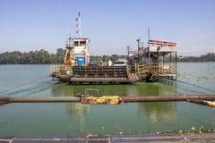Free Ferry Boat In Billings Dam Stock Image - 114639931