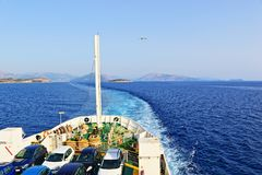 Ferry boat Ionian sea Greece Royalty Free Stock Photo