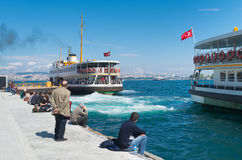 Ferry boat in Istanbul Stock Images