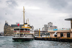 Ferry boat in Kadikoy, Istanbul Royalty Free Stock Photography
