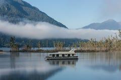 Ferry boat on lake Brunner Stock Images