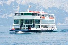 Ferry boat at Lake GArda Stock Photo