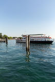 Ferry boat on  Lake Garda. Garda Lake is one of the most frequented tourist regions of Italy Royalty Free Stock Photography