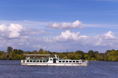 Ferry Boat - Lake of Mantova Italy Royalty Free Stock Images