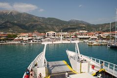 Ferry boat, Lefkada island, Greece Royalty Free Stock Photo