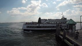 Ferry boat on Liberty Island stock video footage