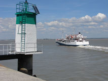 Ferry boat. Linking Royan to le Verdon in France stock image
