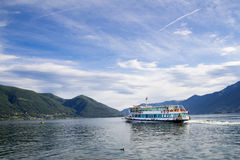 Ferry boat on Maggiore lake, Ascona, Switzerland Royalty Free Stock Image