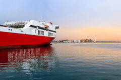 A ferry boat in the Mediterranean Stock Photography