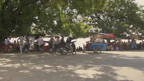 Ferry boat, mekong,  cambodia, southeast asia stock video footage