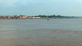 Ferry boat , mekong,  cambodia, southeast asia stock video footage