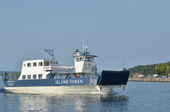 Ferry Boat Motoring on Lake Superior Royalty Free Stock Photo