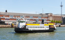Ferry boat MS Tor enters the port of Helsinki Royalty Free Stock Image