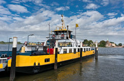Ferry boat on the Nieuwe Maas river Stock Images