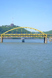 Ferry Boat on the Ohio River in Pittsburgh, PA Stock Photography