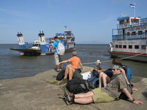 Ferry boat at Ometepe island, Nicaragua Stock Photography