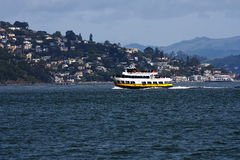 Ferry Boat Overcast Day on Bay People Royalty Free Stock Images