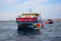 Supporters Of Team Mapfre Volvo Ocean Race Alicante 2017 Royalty Free Stock Images