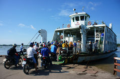 Ferry boat,  passenger transport vehicle Royalty Free Stock Images