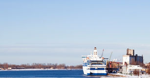 Ferry boat in port Stock Image