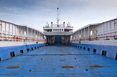 A ferry boat in the port Stock Images