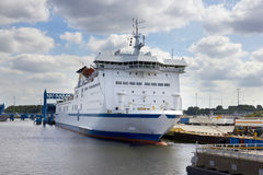 Ferry boat in port Stock Photos