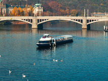 Ferry Boat in Prague Royalty Free Stock Photos