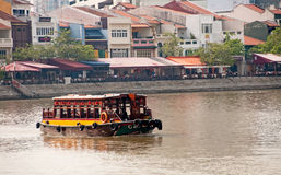 Ferry in boat quay Stock Photography