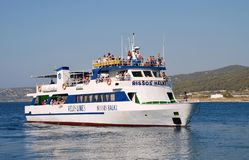 Ferry-boat, Rhodes Photo stock