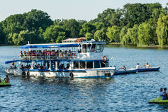 Ferry Boat Ride On Herastrau Lake Royalty Free Stock Image