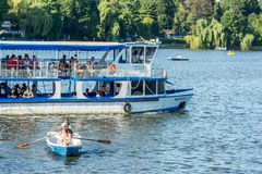 Ferry Boat Ride On Herastrau Lake Stock Photos