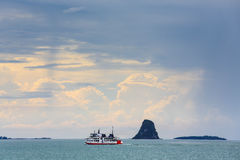 Ferry boat. In Sa-mui Thailand Royalty Free Stock Images