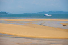 Ferry Boat Sailing on Andaman Seag royalty free stock image
