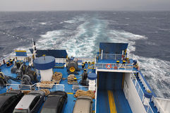 Ferry boat at sea Stock Images