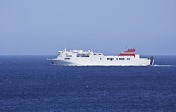 Ferry boat at sea Stock Image