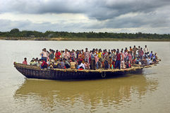 Ferry boat service in West Bengal-India Stock Photo