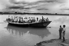 Ferry boat service in West Bengal-India Stock Image