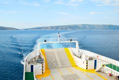 Ferry Boat Ship and its wake Royalty Free Stock Images